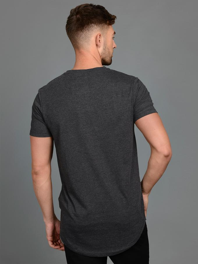 jack and jones noa long tee dark grey