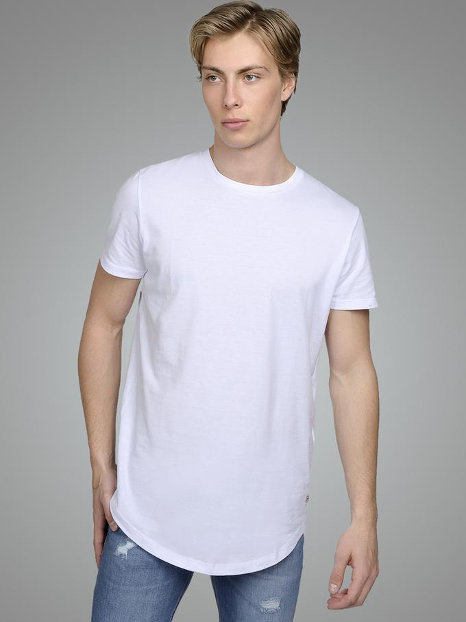 jack and jones noa long tee white