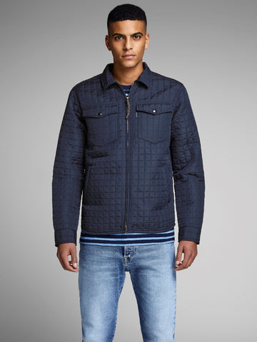 jack and jones quilted jacket navy