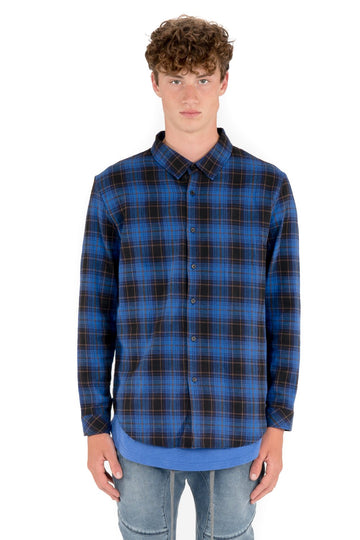 kuwalla tee proper plaid shirt electric blue