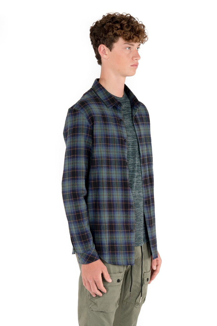 kuwalla tee proper plaid shirt green