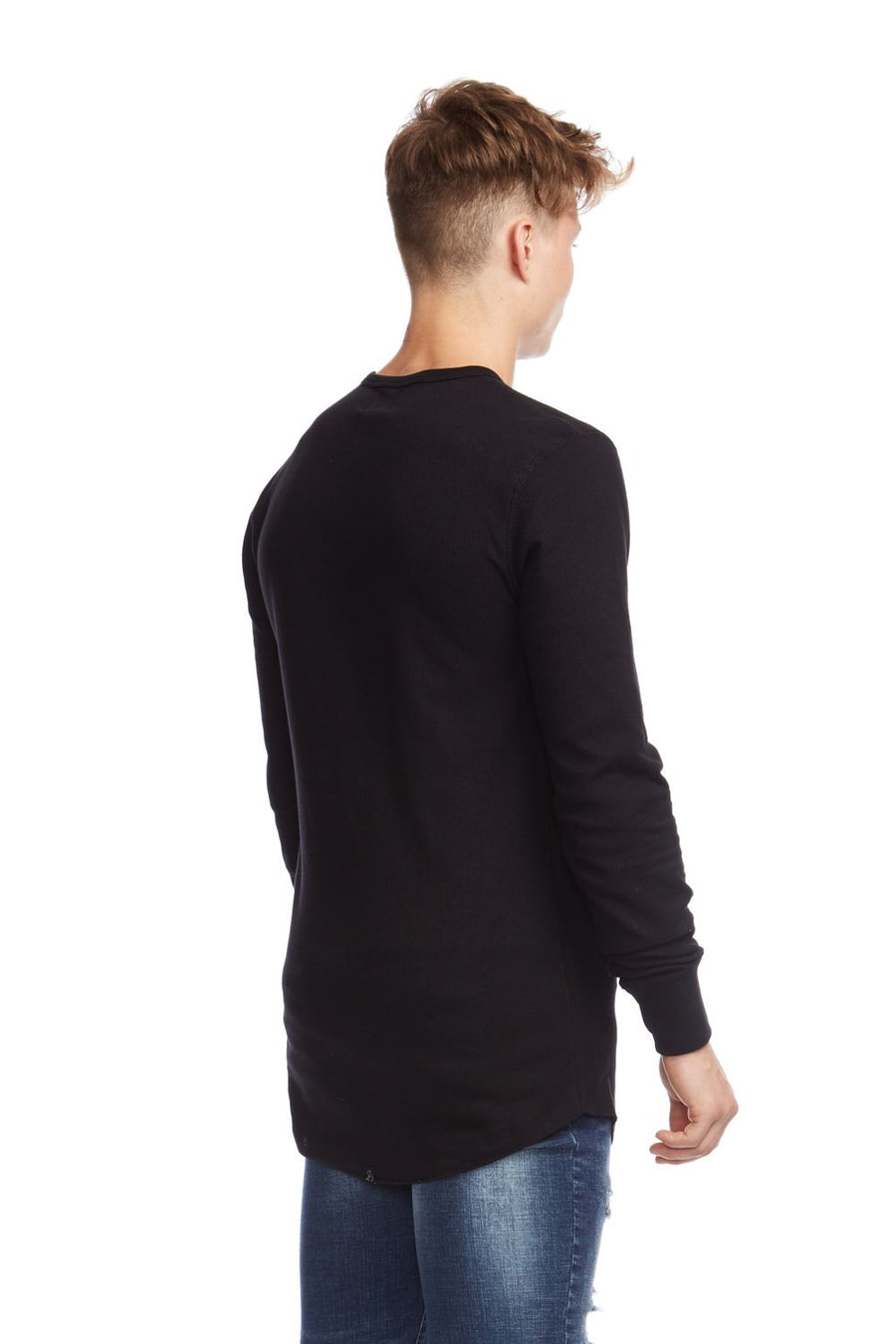 kuwalla tee thermal underscoop long sleeve black