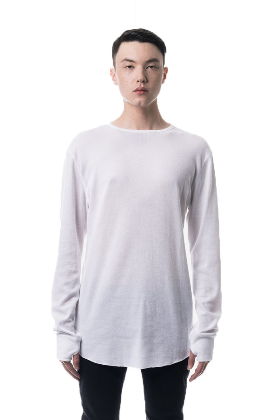 kuwalla tee thermal underscoop long sleeve white