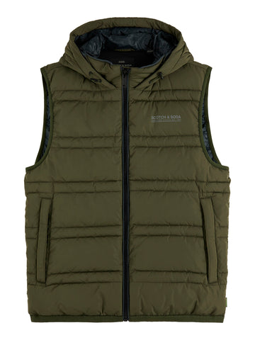 scotch & soda green vest