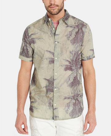 buffalo palm tree button up shirt