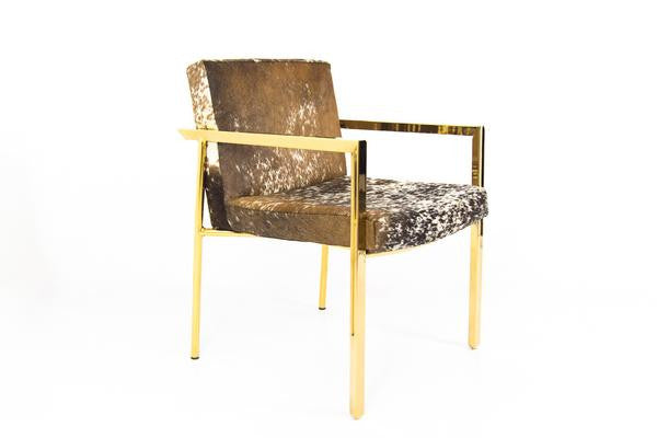 Argentina Dining Chair in Cowhide