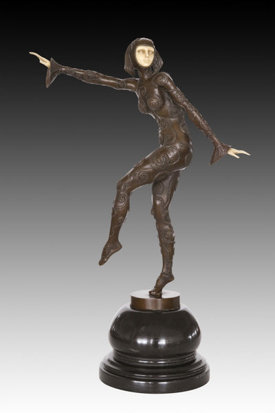 BRONZE DANCING WOMAN
