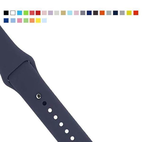 Silicone Watch Bands For Apple Watch [22 Variations]