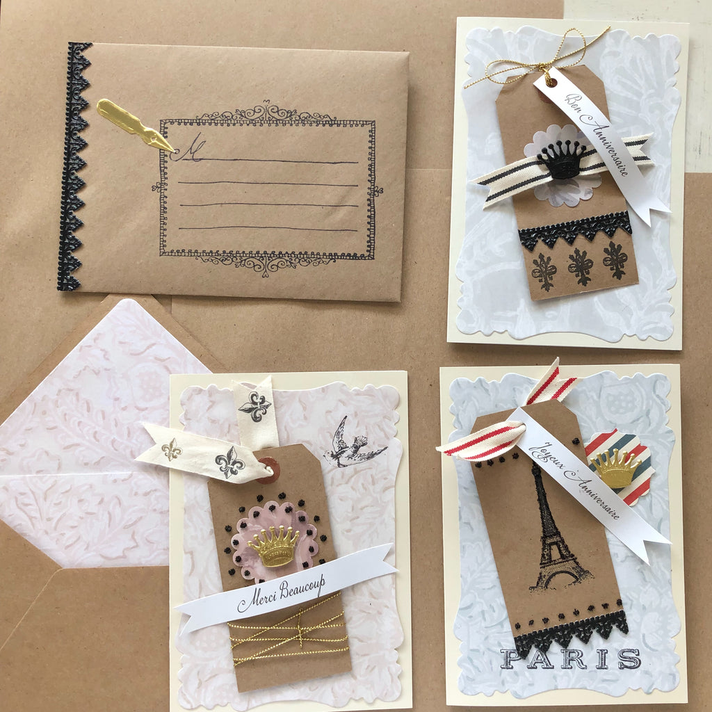 French Bastille Day Cards and Envelopes