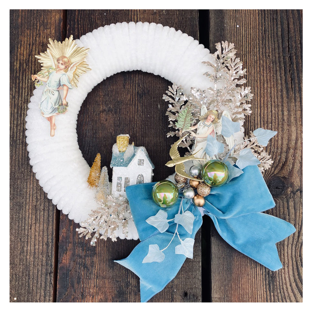 Vintage Chenille Wreath Project