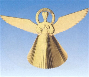 Standing Angel, Embossed Foil Dresden Decoration