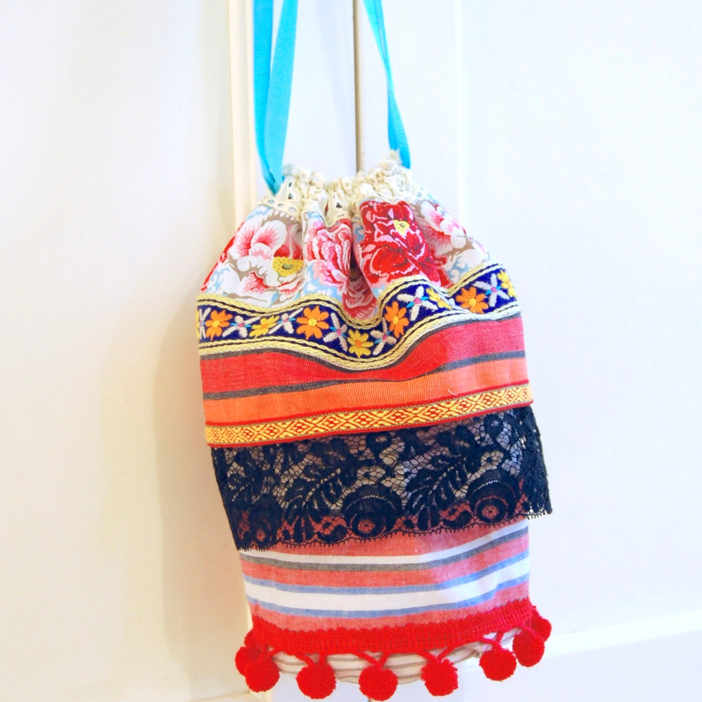 Ribbon Drawstring Bag