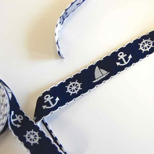 Embroidered Nautical Ribbon - Vintage