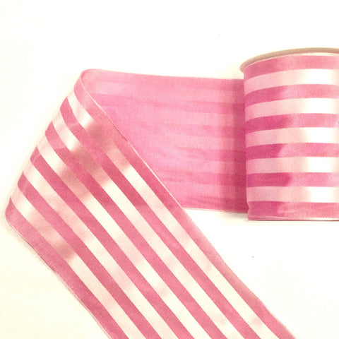 Wide Satin Taffeta Stripe Ribbon