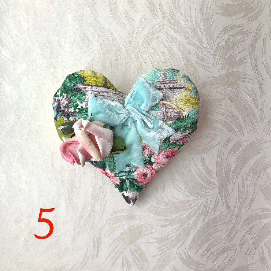 Vintage Heart Pillow Sachet