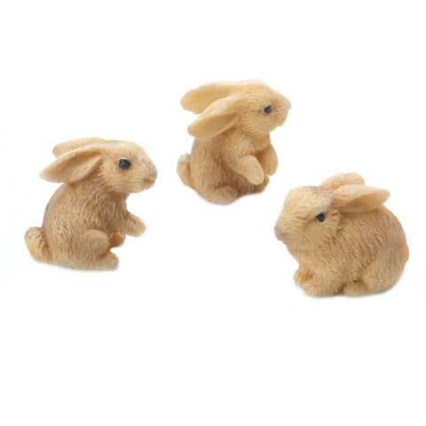 Natural Bunny Rabbit Miniatures