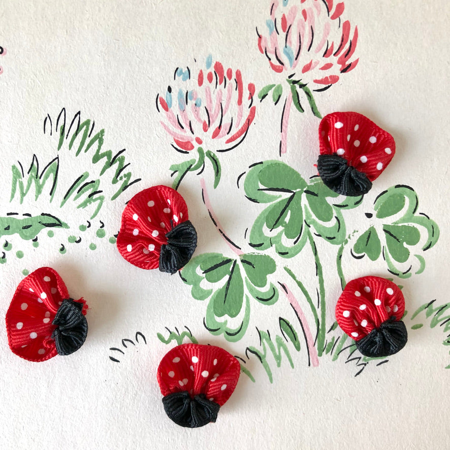 Ribbon Ladybugs - Vintage