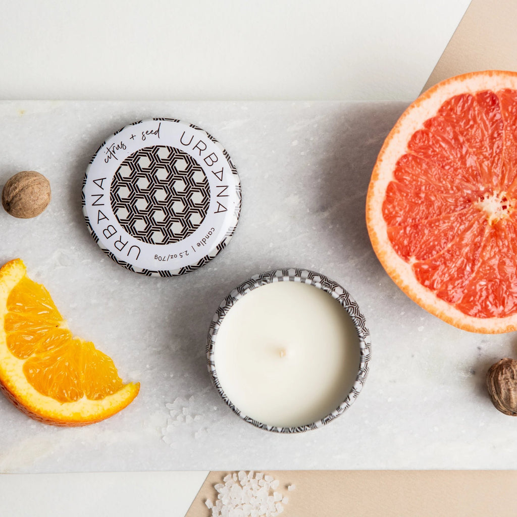 Citrus + Seed Mini Candle, Urban Nirvana