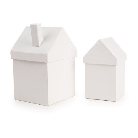 White Chipboard House Box