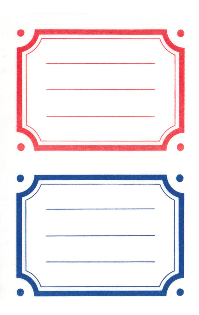 Classic Red & Navy Labels - Stickers