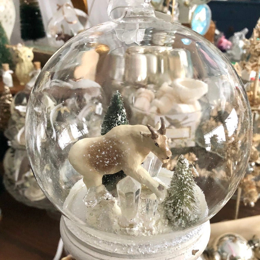 Glass Globe Ornament, Majestic Mountain Goat
