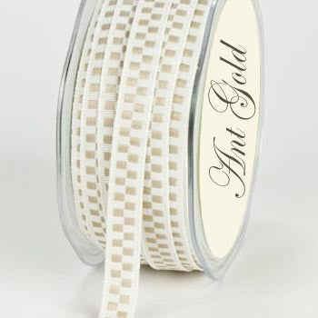 Woven Check Narrow Ribbon