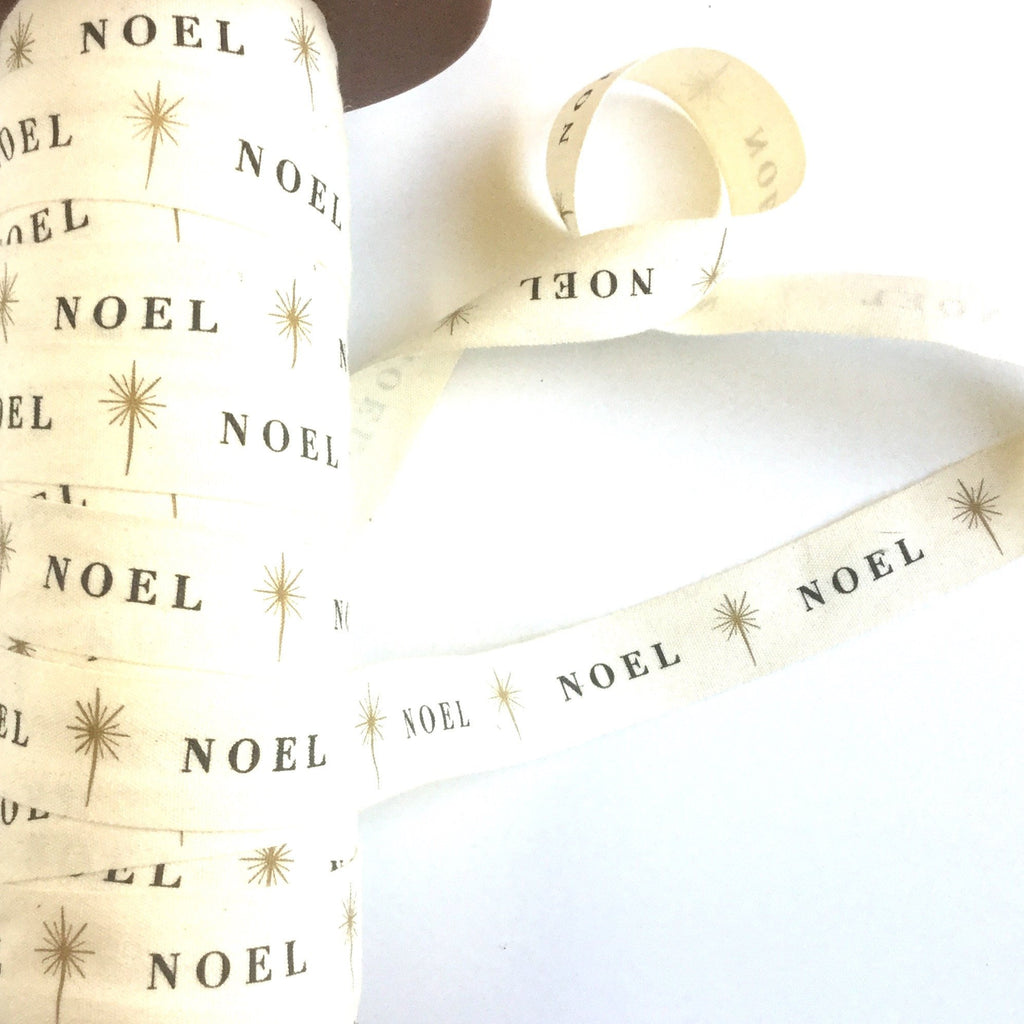 Noel - Natural Cotton Icon Ribbons