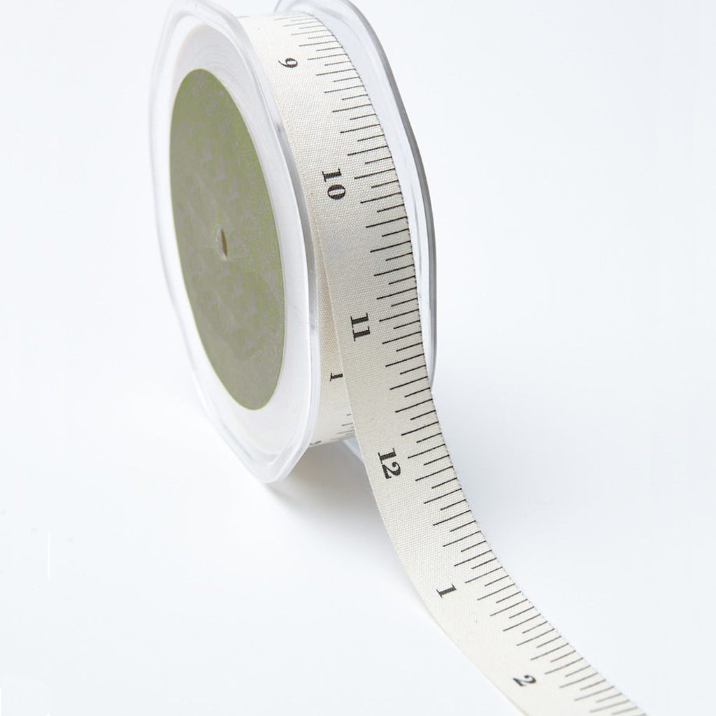 Tape Measure - Natural Cotton Icon Ribbons