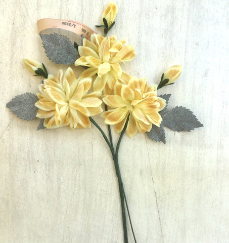 Dahlia Trio Spray - Vintage