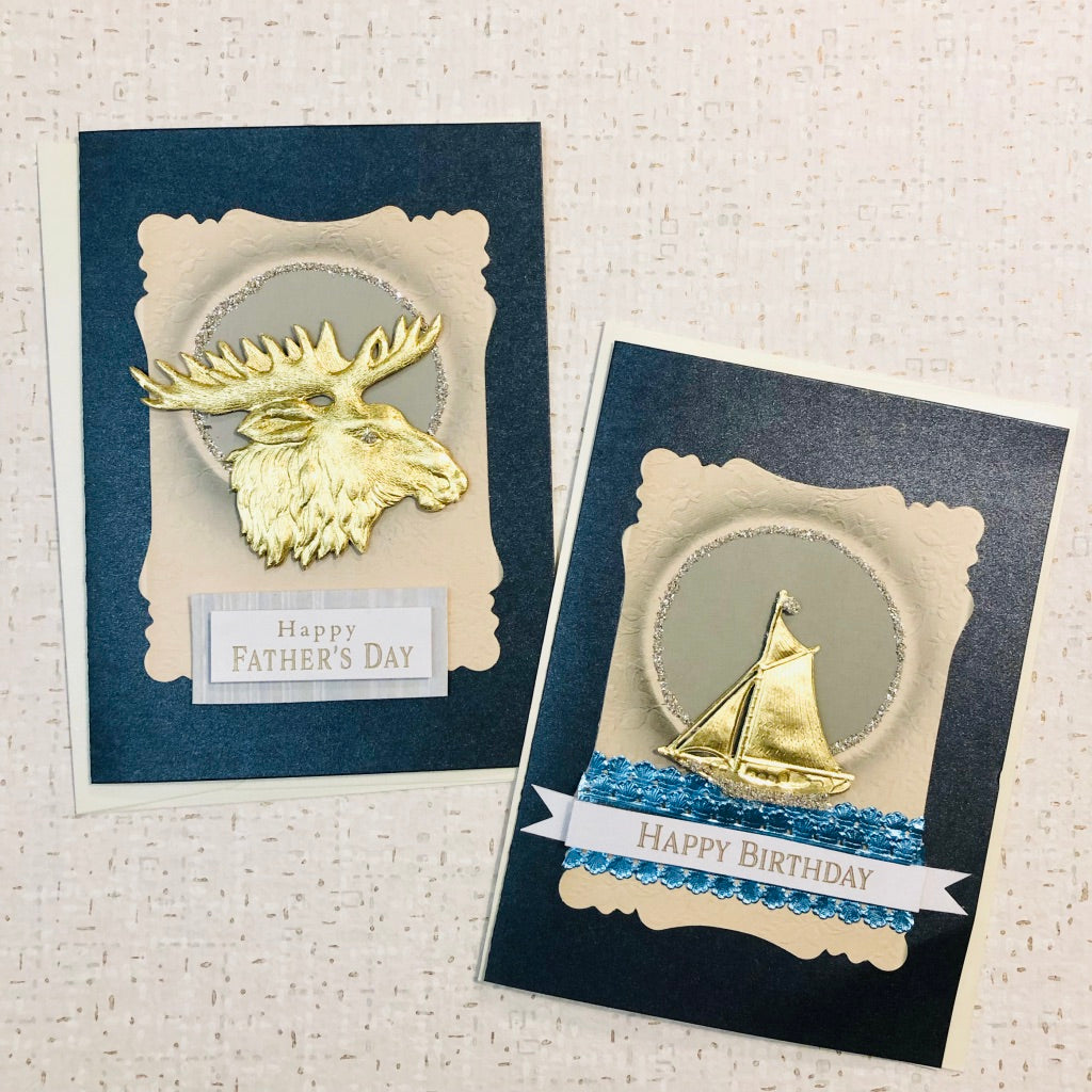 Regal Moose or Sailboat Card