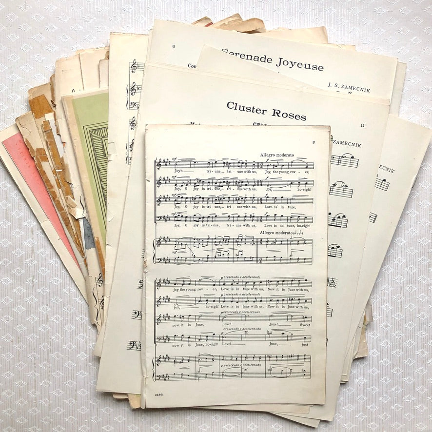 Antique Sheet Music Roll