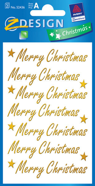 "Stickers, ""Merry Christmas"""