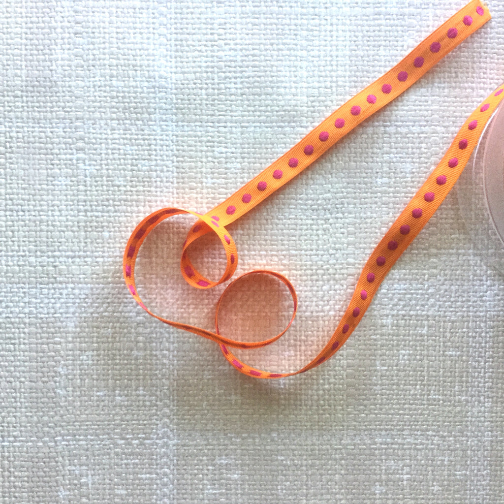 Woven Dots in a Row Ribbon