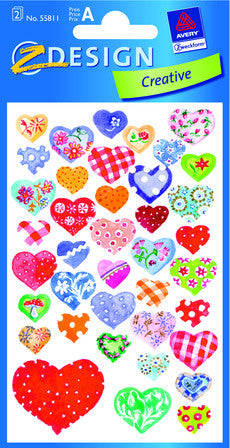 Calico Hearts Stickers