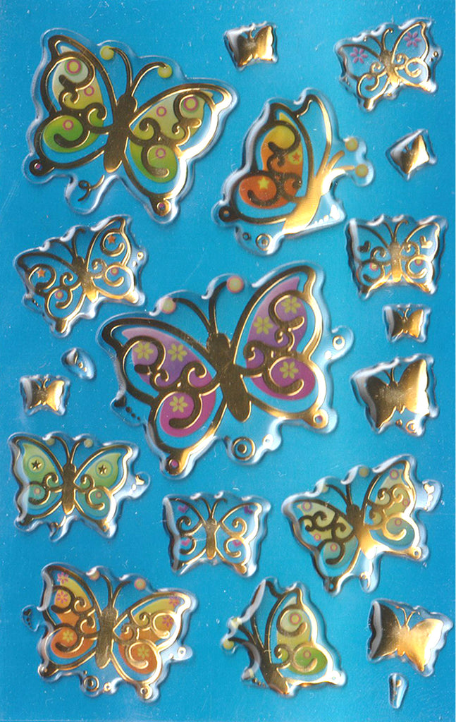 Metallic Butterfly 3D Gel - Stickers