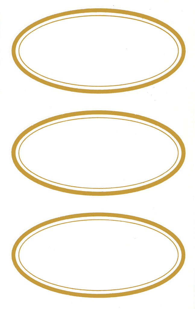 Elegant Oval Metallic Gold Labels - Stickers