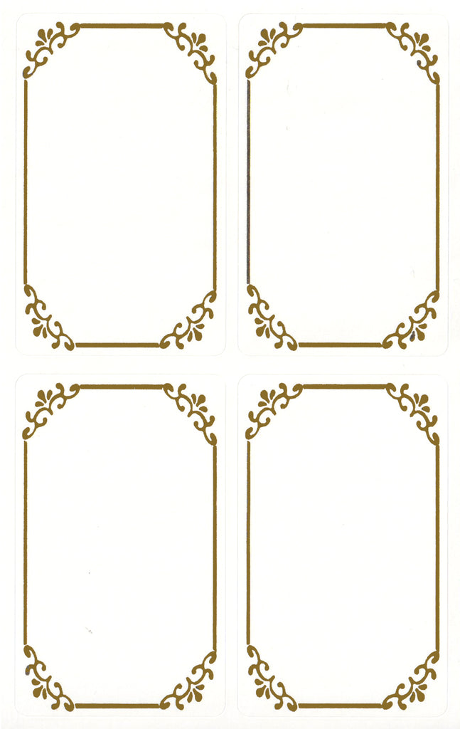 Filigree Metallic Gold Labels - Stickers