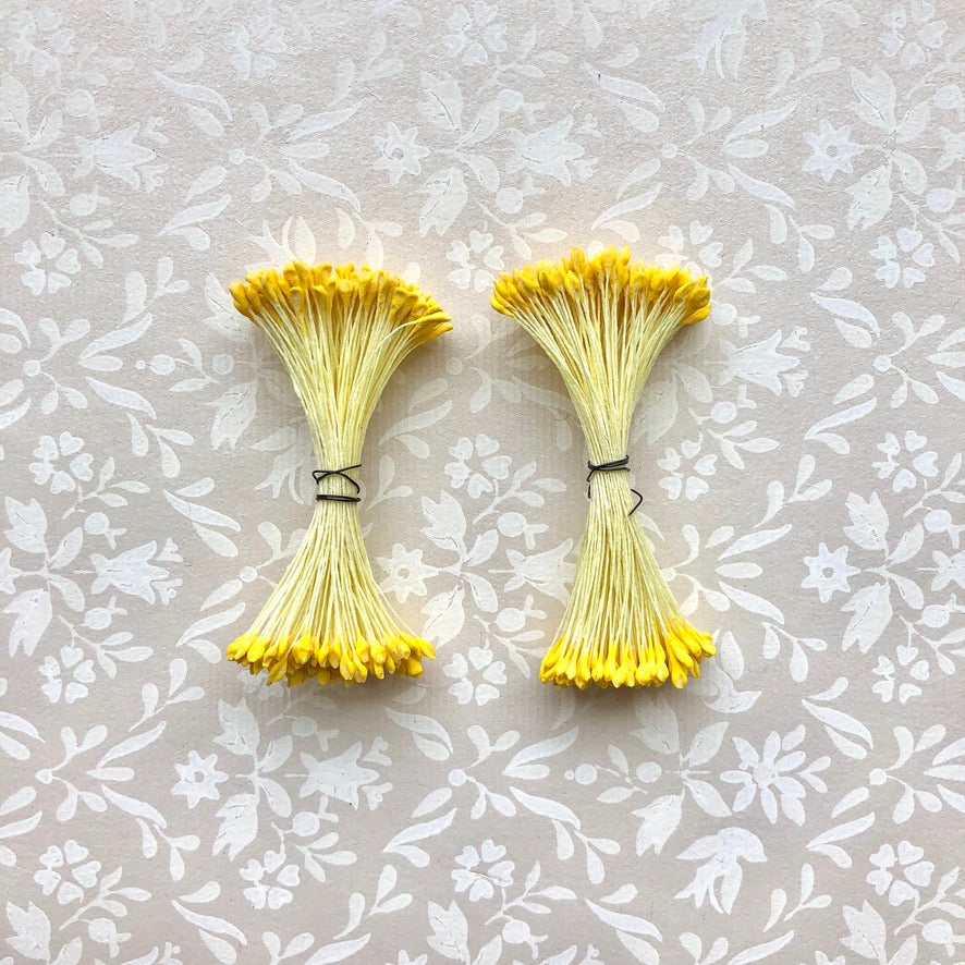 Vintage Flower Stamens, Single Color - 2 Pack