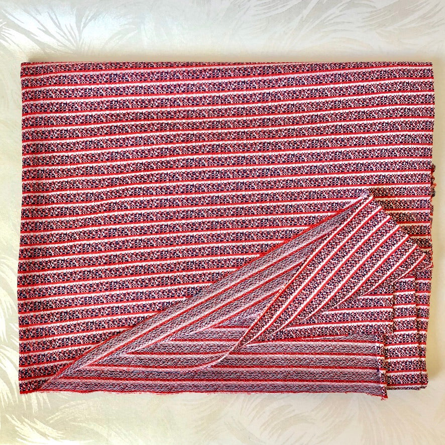 Vintage Double-Knit Striped Fabric