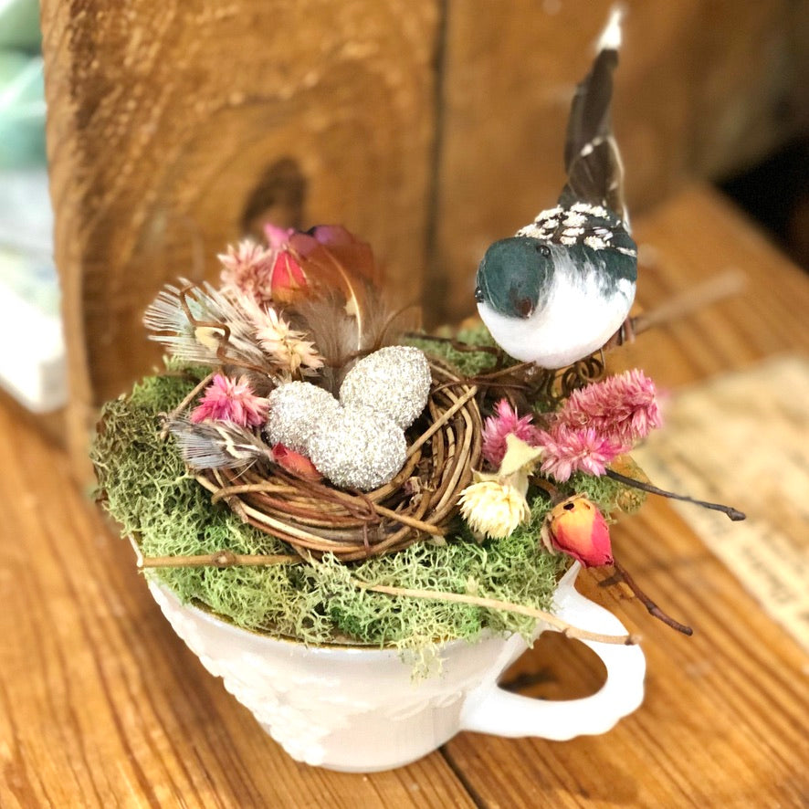 Spring Teacup Nest Workshop
