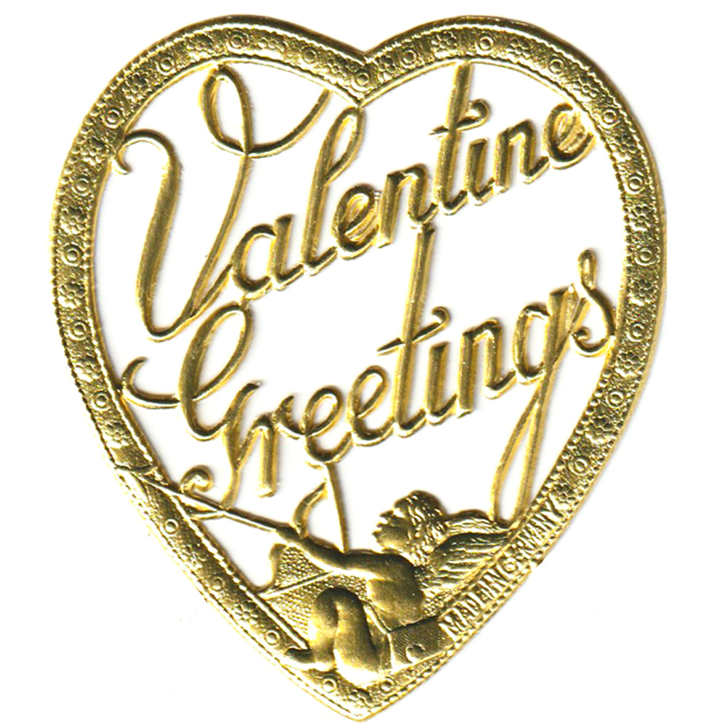 Valentine Greetings Heart,  Dresden Die-Cut