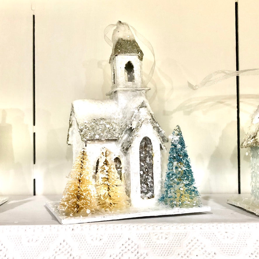 Glitter House Ornament
