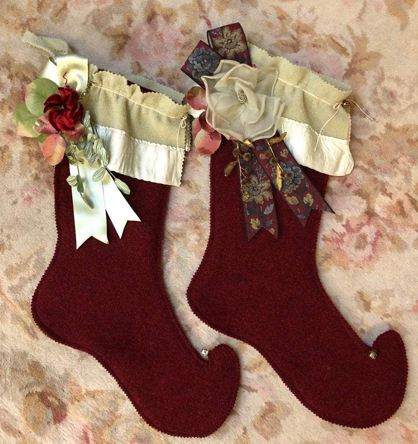 Vintage Wool Christmas Stockings