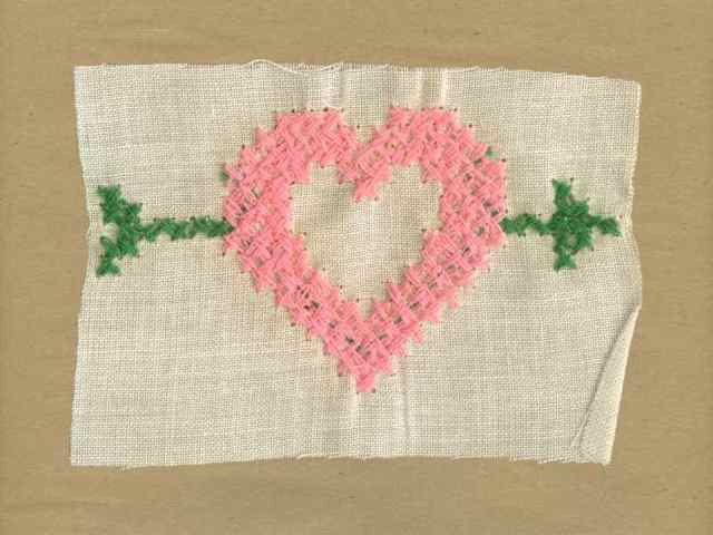 Pink_Vintage_Applique_Cross_Stitch_Arrow_Heart