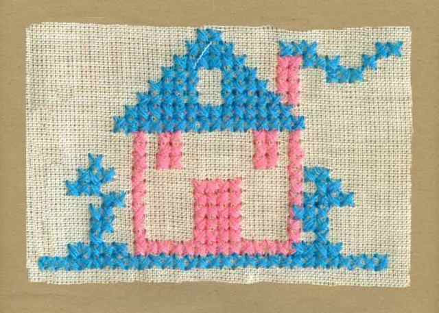 Blue_Pink_Vintage_Applique_Cross_Stitch_House