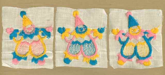 Pink_Yellow_Blue_Vintage_Applique_Clown