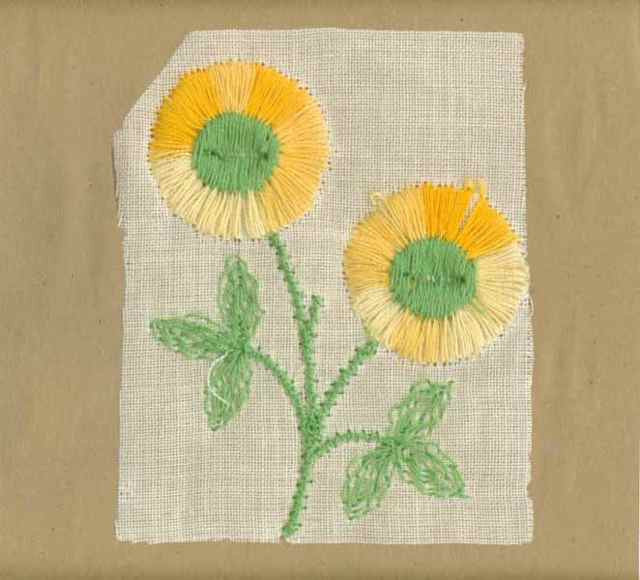 Yellow_Vintage_Applique_Double_Button_Flower
