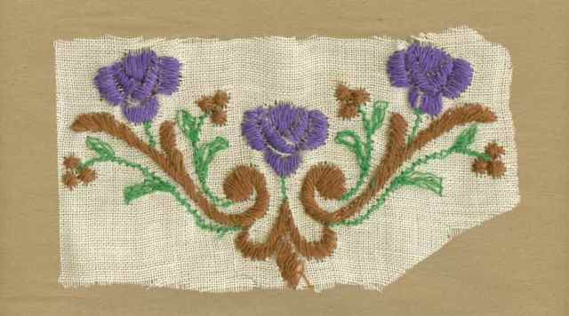 "Violet_Vintage_Applique_""V""_Shape_Flower_Motif"