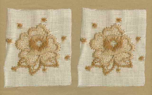 Tan_Vintage_Applique_Geometric_Flower_Motif