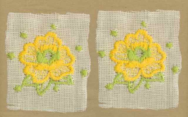 Yellow_Vintage_Applique_Geometric_Flower_Motif
